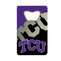 NCAA TCU Horned Frogs Credit Card Style Bottle Opener