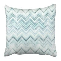 BPBOP Blue Easter Chevron Pattern Grunge of Zig Zag Colorful Lines Abstract Artistic Canvas Color Easter Pillowcase 16x16 inch