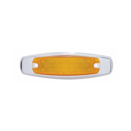 Amber 12 LED Truck Trailer Side Marker Clearance Light / Stainless Steel Bezel