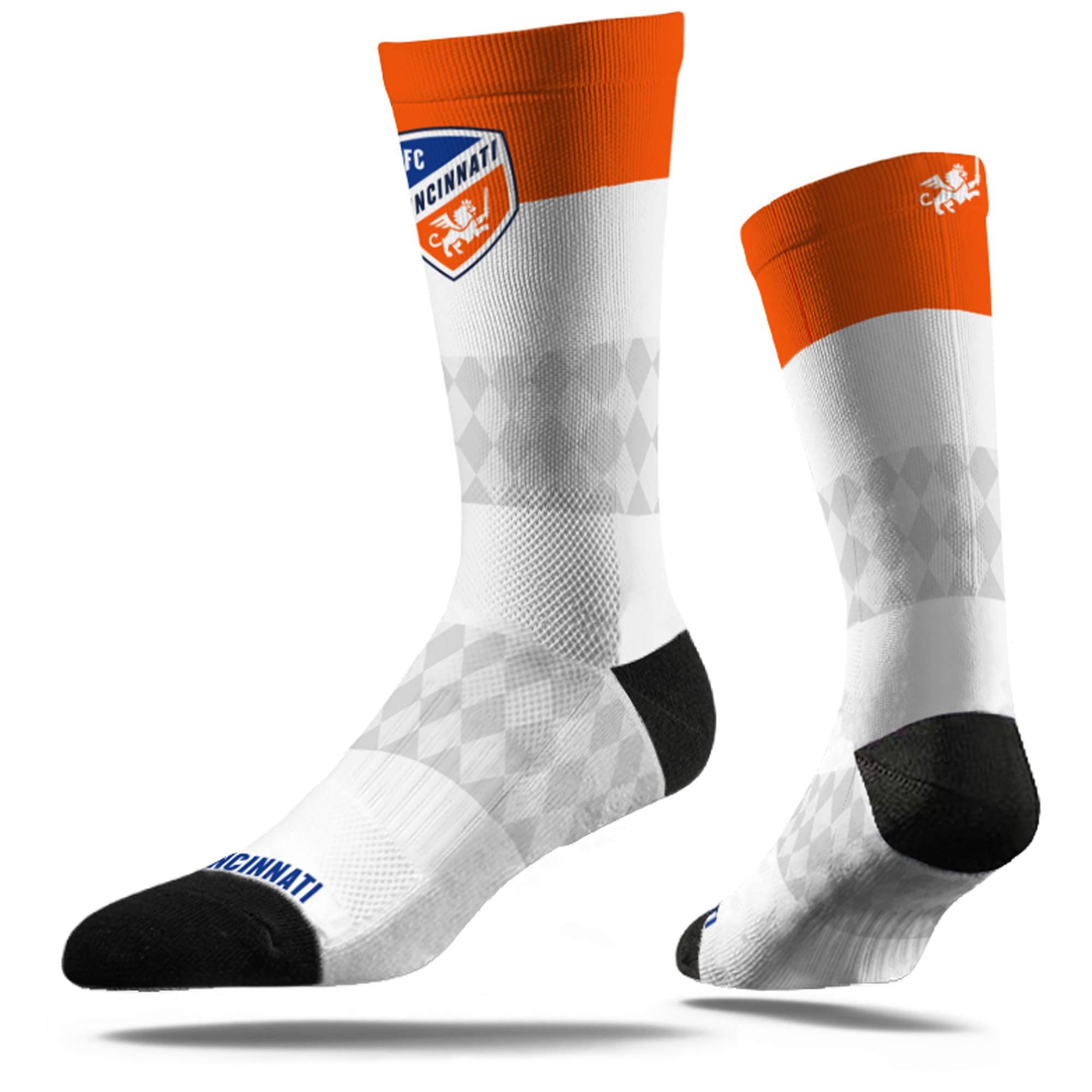 FC Cincinnati Dress Socks - White - M/L