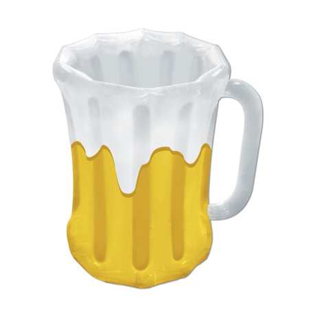 Pack of 6 Inflatable Frosty Beer Mug Party Drink Coolers 27