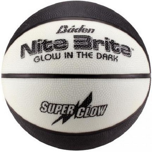 Baden Sports BR6G-00 Nite Brite Basketball Glow In The Dark Blk/White 28.5""