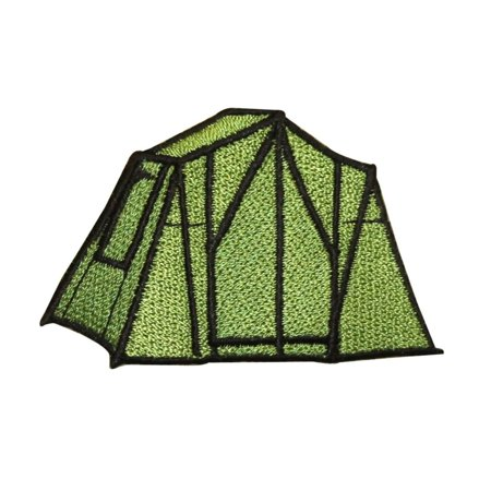ID 0573 Camping Tent Patch Scouts Pop Up Camp Embroidered Iron On