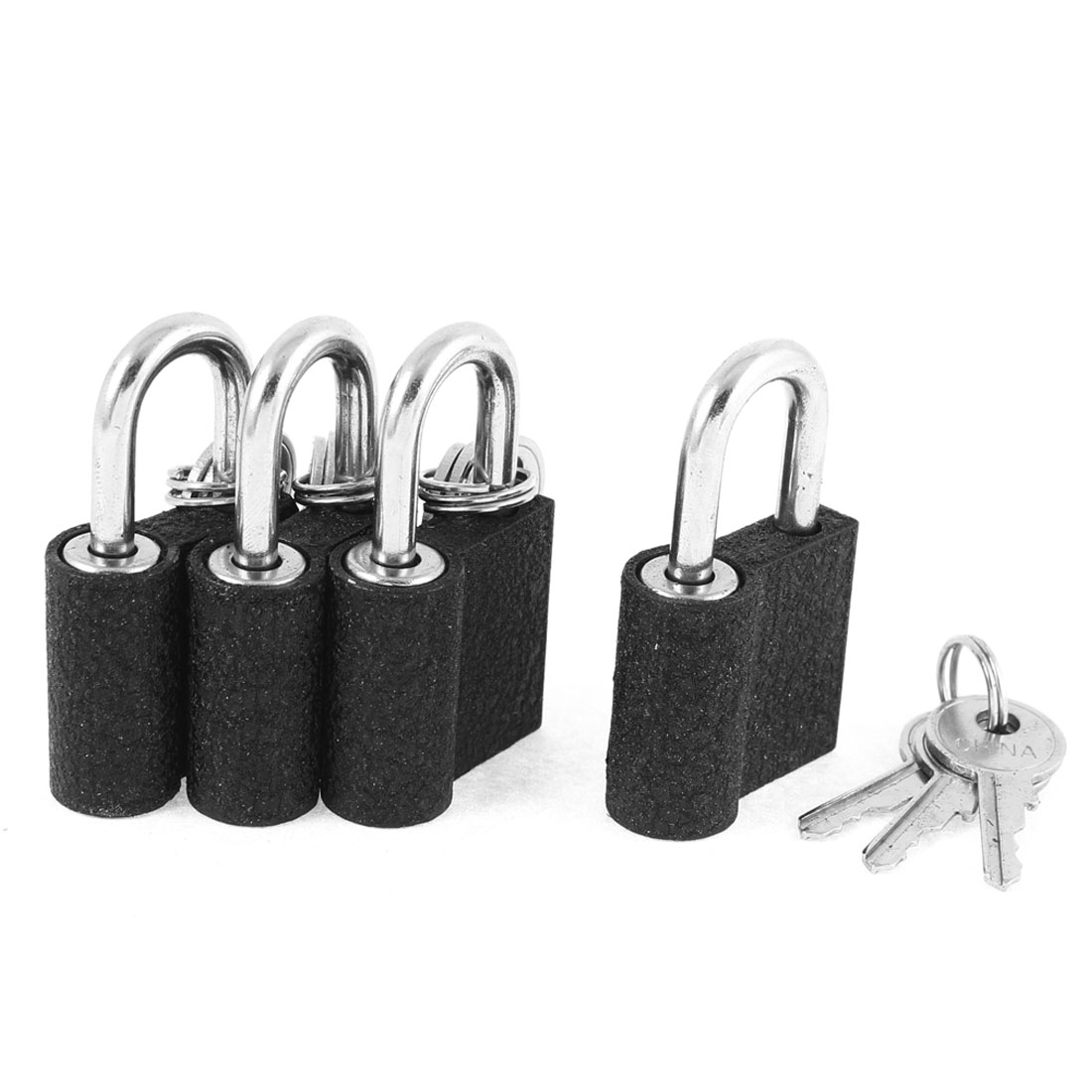 4pcs Metal Security Lock Drawer Gate Door Small Padlock with key 5cm x 2.8cm