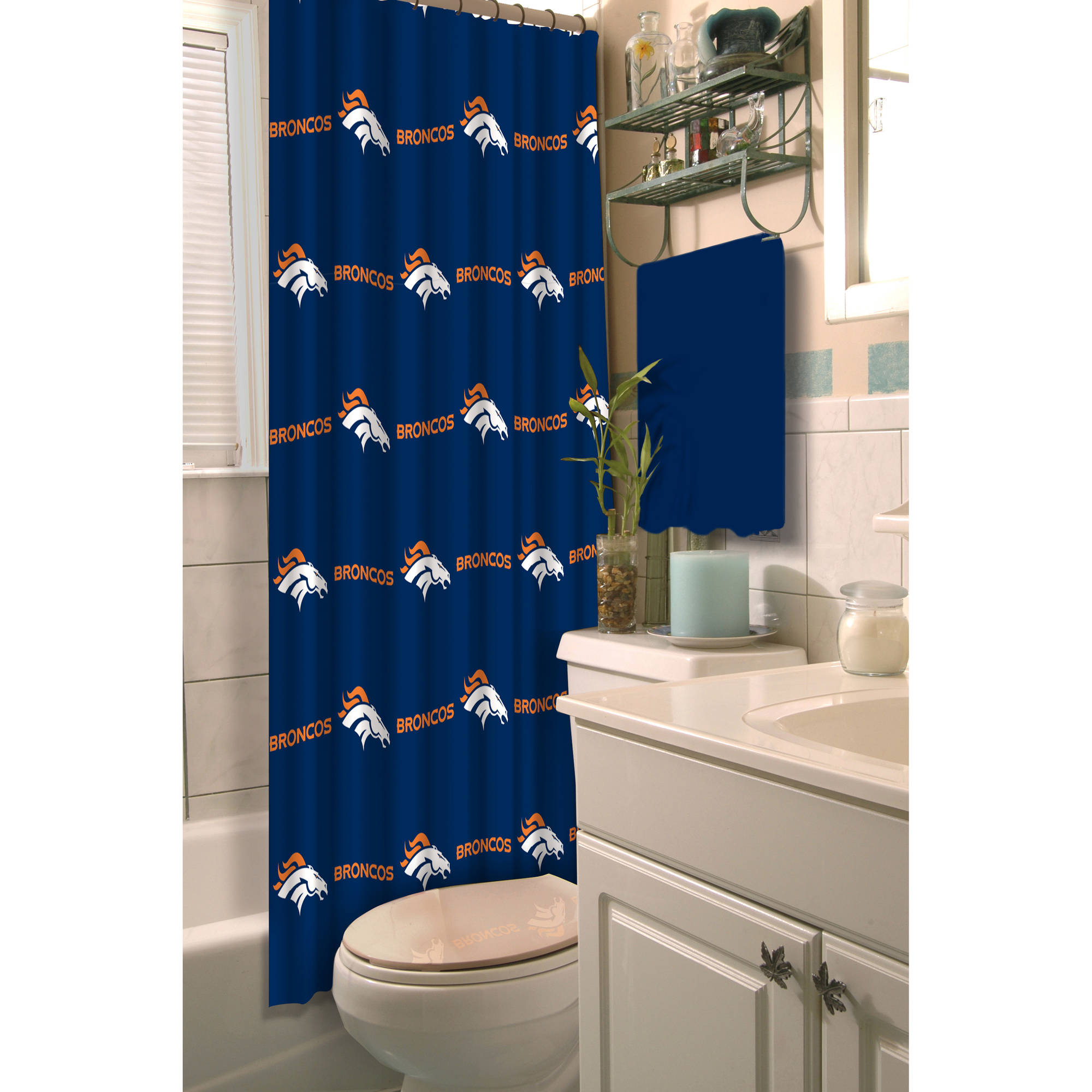 NFL Denver Broncos Decorative Bath Collection Shower Curtain