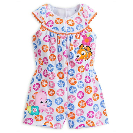 "Disney Store Baby Girls Nemo - Finding Nemo - ""Seaside Fashion"" Knit Romper"