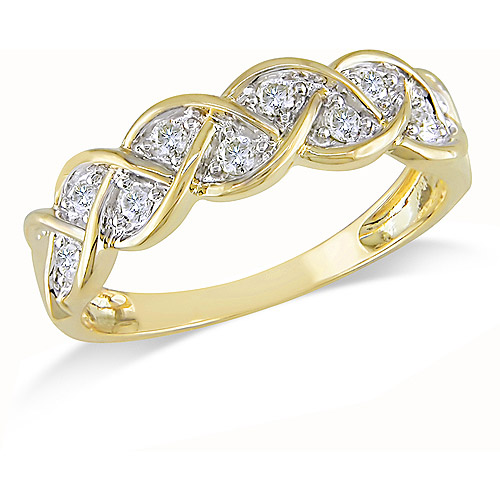 1/4 Carat T.W. Diamond Braid Ring in 10kt Yellow Gold