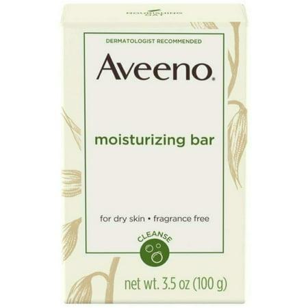 6 Pack - AVEENO Naturals Moisturizing Bar for Dry Skin 3.50 oz