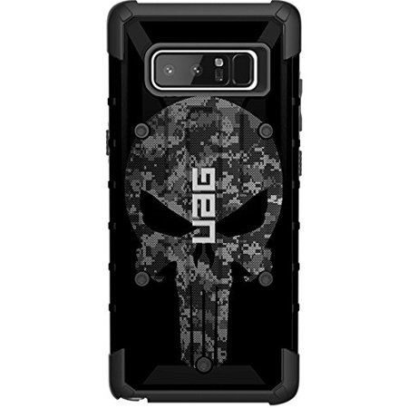 LIMITED EDITION- Customized Designs by Ego Tactical over a UAG- Urban Armor Gear Case for Samsung Galaxy Note 8 - Black Ops Subdued Digital Camouflage Punisher (Samsung Galaxy Gear Circle)