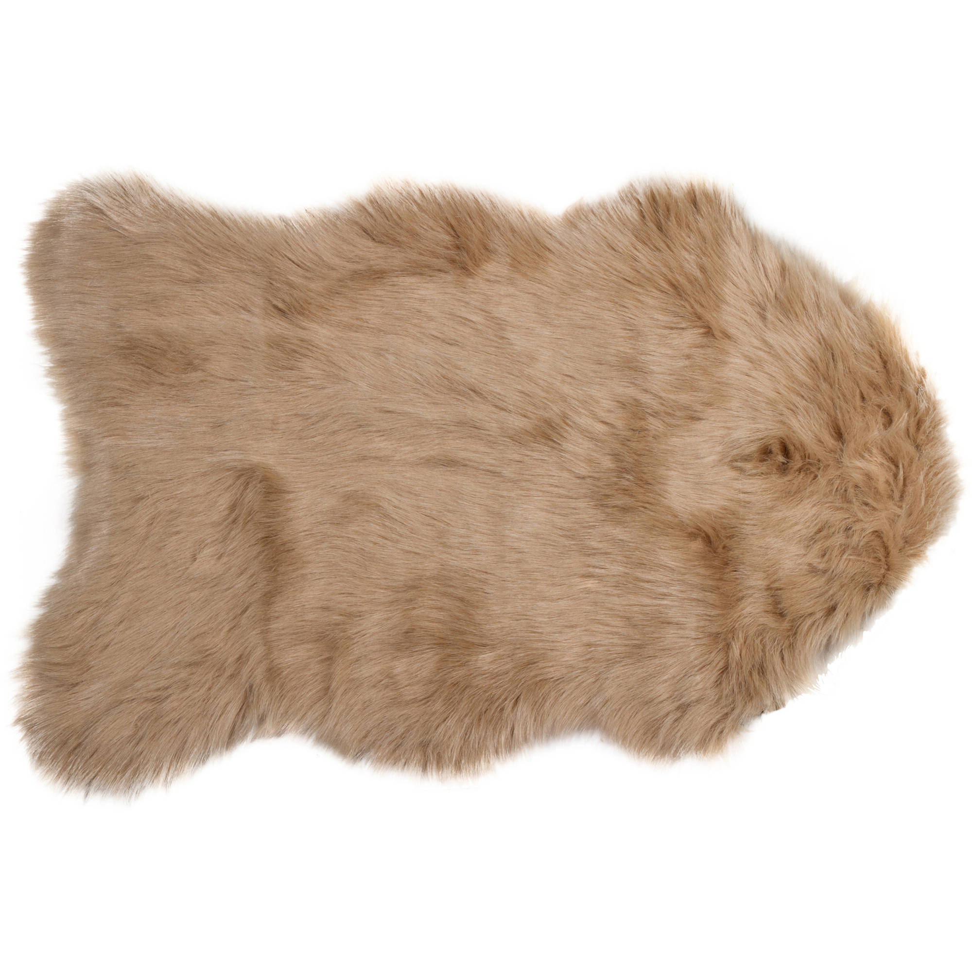Gordon Faux Sheepskin Rug, 2' x 3'