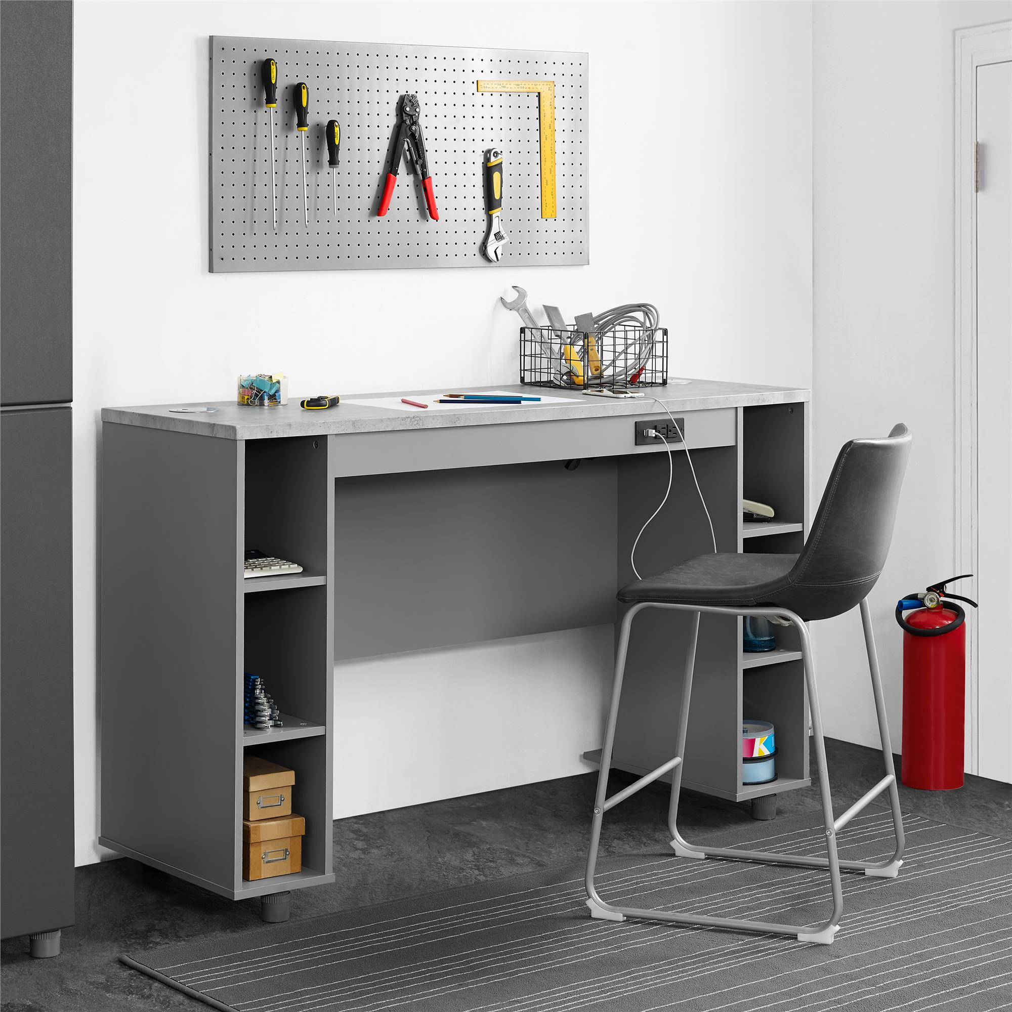SystemBuild Latitude Work Bench, Gray/Concrete