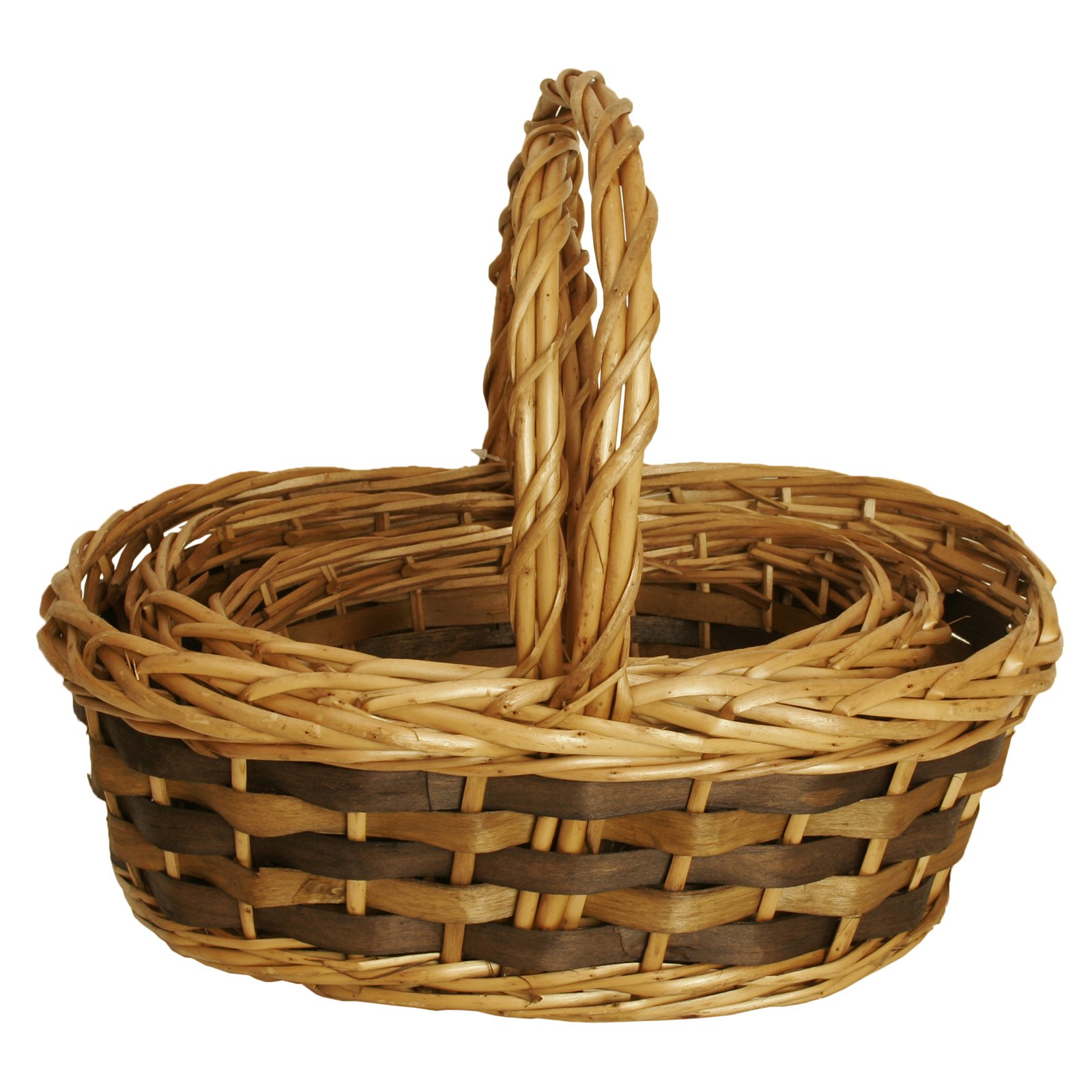 Wald Import Tuscana Decorative Basket with Wood Handle - Set of 3
