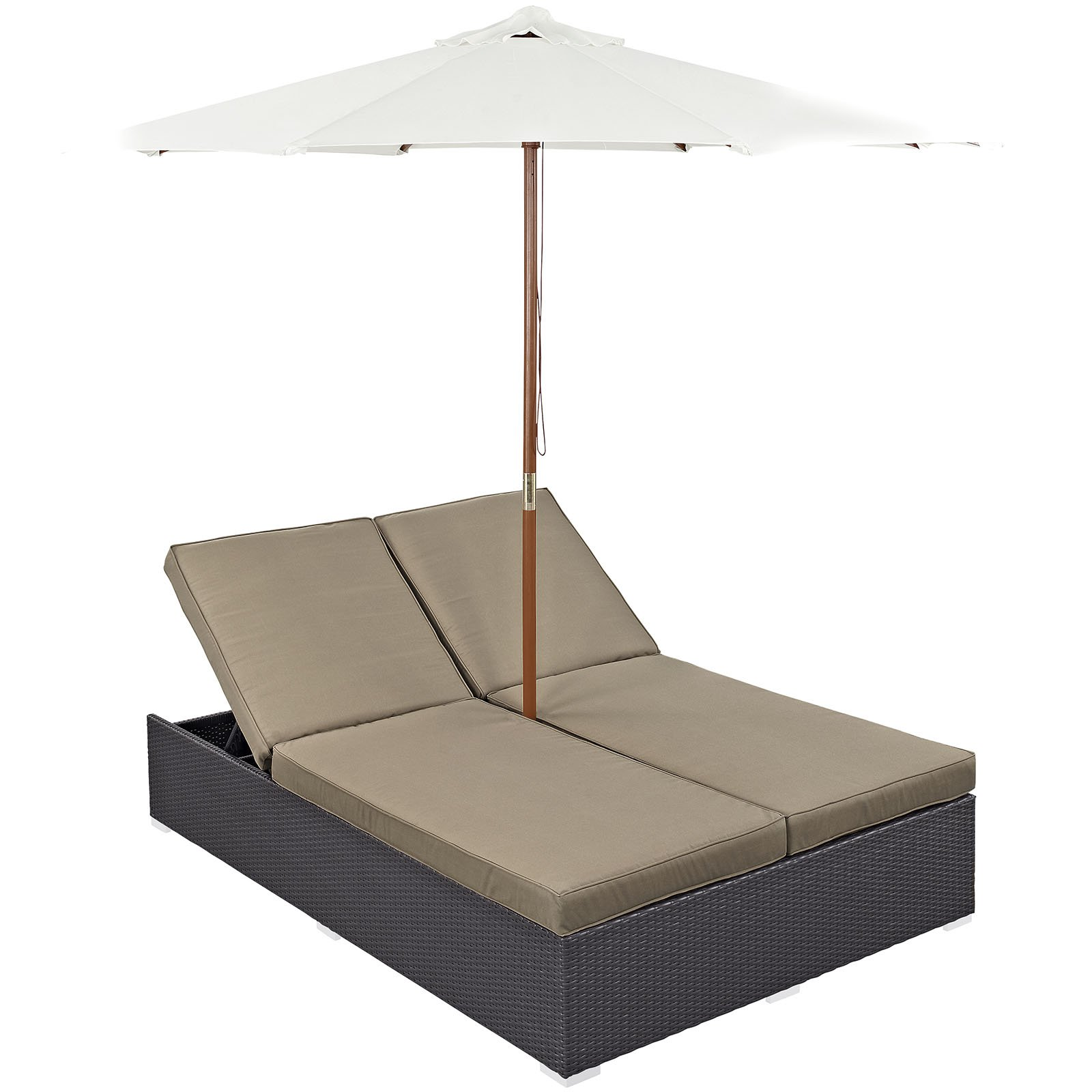 Modway Convene Double Outdoor Patio Chaise with Umbrella Multiple Colors - Walmart.com  sc 1 st  Walmart : walmart chaise - Sectionals, Sofas & Couches