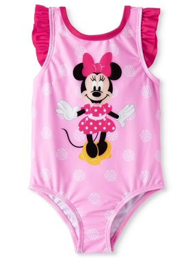 Minnie Mouse Baby Girl Ruffle One-Piece Swimsuit