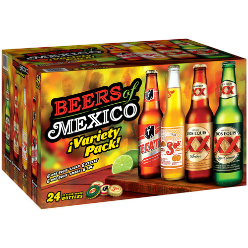 Heineken Beers of Mexico Variety Pack, 12 fl oz, 24 pack