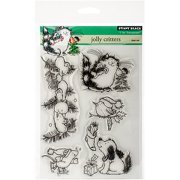 """Penny Black Clear Stamps, 5"""" x 7.5"""" Sheet, Jolly Critters"""
