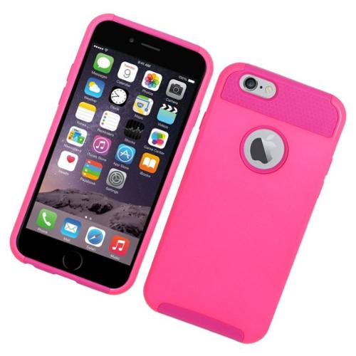 Insten Hard Hybrid Silicone Case For Apple iPhone 6 / 6s - Hot Pink