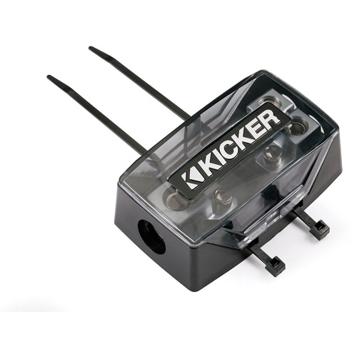 Kicker AFS Fuse Holder, 0/8-Gauge In and Out, Dual Fuse