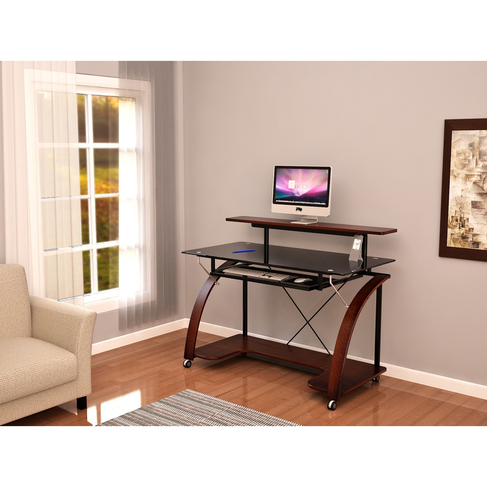 white laa designs x stands tv corliving workstation mobile instruction z desk manual satin outlet line corner stand ideas