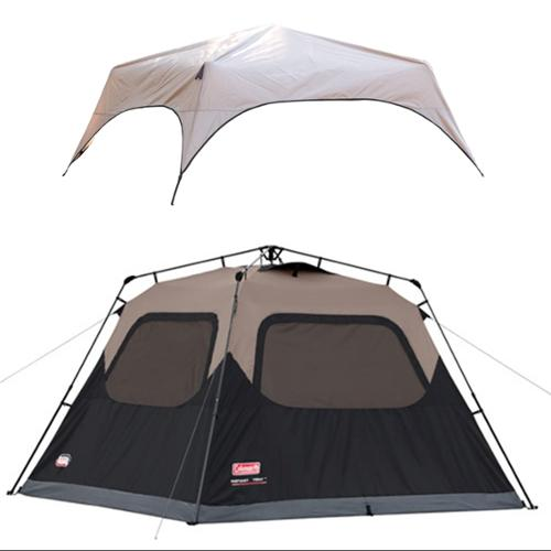 COLEMAN 6 Person C&ing Waterproof Instant Tent + Rainfly Rain Protection Cover  sc 1 st  Walmart.com & COLEMAN 6 Person Camping Waterproof Instant Tent + Rainfly Rain ...