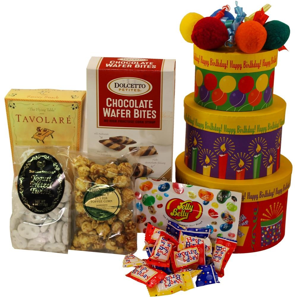 Happy Birthday To You! Snacks and Treats Gift Tower