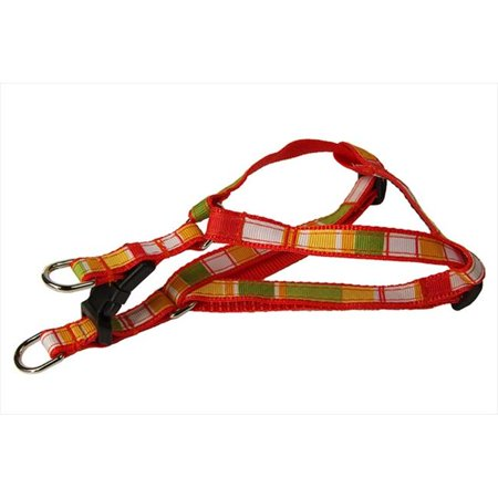 Sassy Dog Wear STRIPE-ORANGE-MULTI1-H Multi Stripe Dog Harness, Orange - Extra Small - image 1 de 1