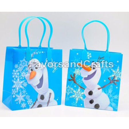 12 Olaf Party Favor Bags Birthday Candy Treat Favors Gifts Plastic Bolsas De Recuerdo - Olaf Birthday Party Ideas