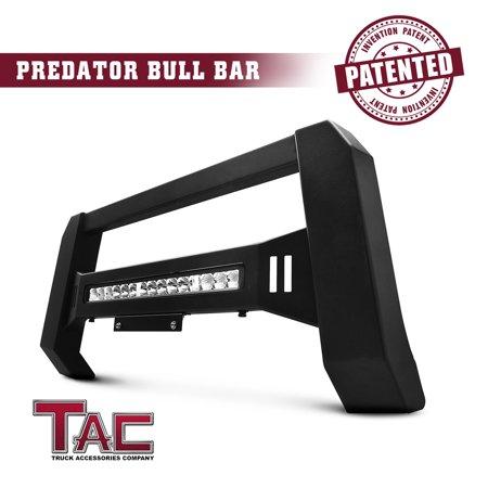 TAC Predator Modular Bull Bar For 2009-2018 Dodge RAM 1500 LD Pickup Truck Front Bumper Guard Fine Textured Black with LED Off-Road (Best Bull Bars For Trucks)