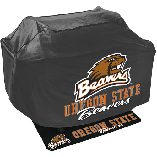 Mr. Bar-B-Q NCAA Grill Cover and Grill Mat Set, Oregon State Beavers