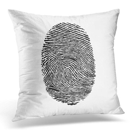 ECCOT Black Thumbprint Fingerprint Silhouette on White Abstract Pillowcase Pillow Cover Cushion Case 18x18 inch