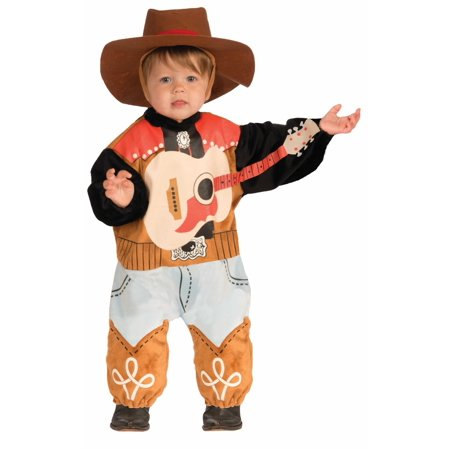 Infant Lil Rock Star Cowboy Western Baby Halloween Costume Cute Onesie