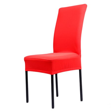 Prime Universal Stretch Dining Room Chair Slipcovers Removable Dining Chair Seat Covers Wedding Party 1 Red Machost Co Dining Chair Design Ideas Machostcouk
