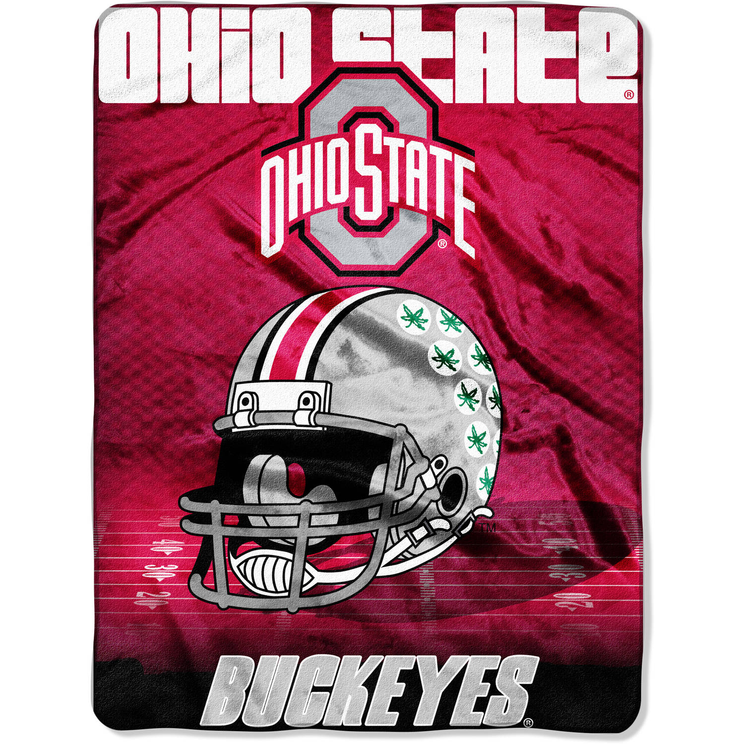 "NCAA Ohio State Buckeyes 60"" x 80"" Oversized Micro Raschel Throw"