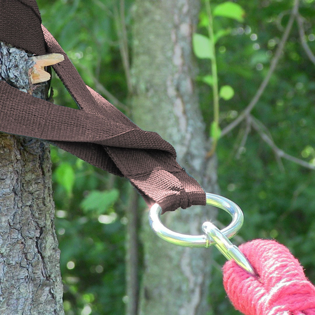 Sunnydaze Heavy Duty Hammock Tree Straps, Black