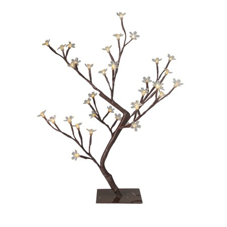 "20"" LED Lighted Cherry Blossom Flower Tree - Multi-Color and Warm White Changing Lights"