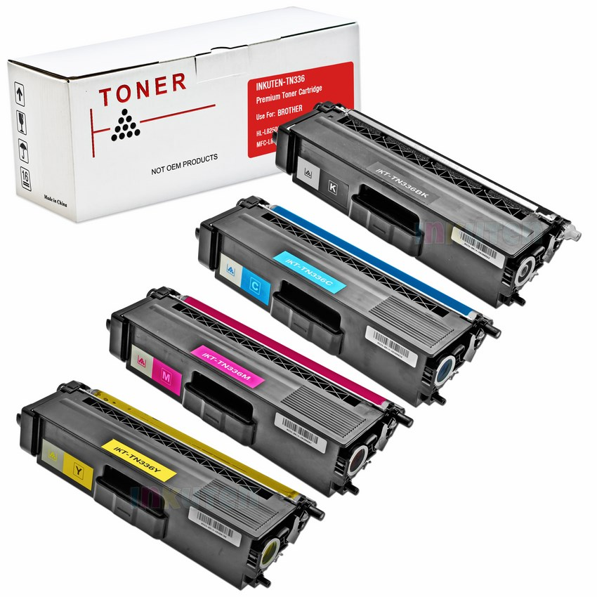 4 PACK BROTHER MFC L8600CDW TONER CARTRIDGES (New Compatible)