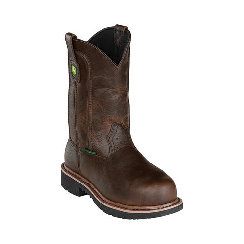 "John Deere Men's 11"" Pull On Steel Toe Brown Boot 11.5 W by John Deere"