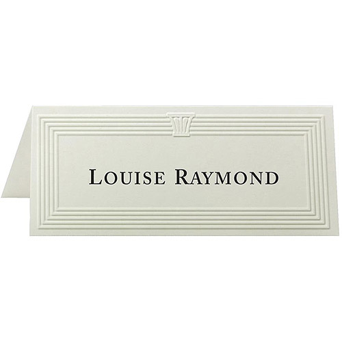 First Base Capital Design Embossed Place Cards