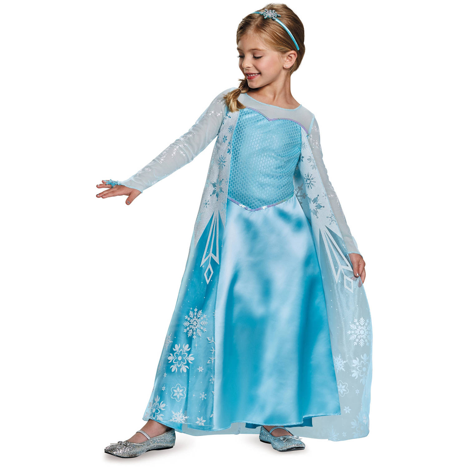 Halloween Costume 398.Disney Frozen Elsa Deluxe Child Halloween Costume