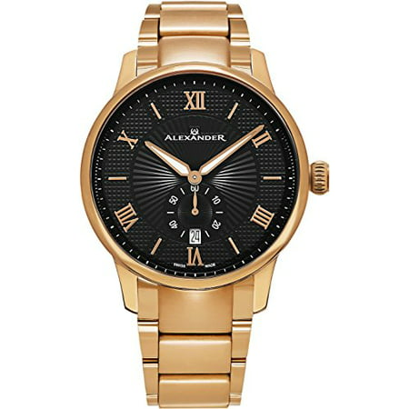 Statesman Regalia 42mm Rose Gold Plated SS Swiss Made Watch -