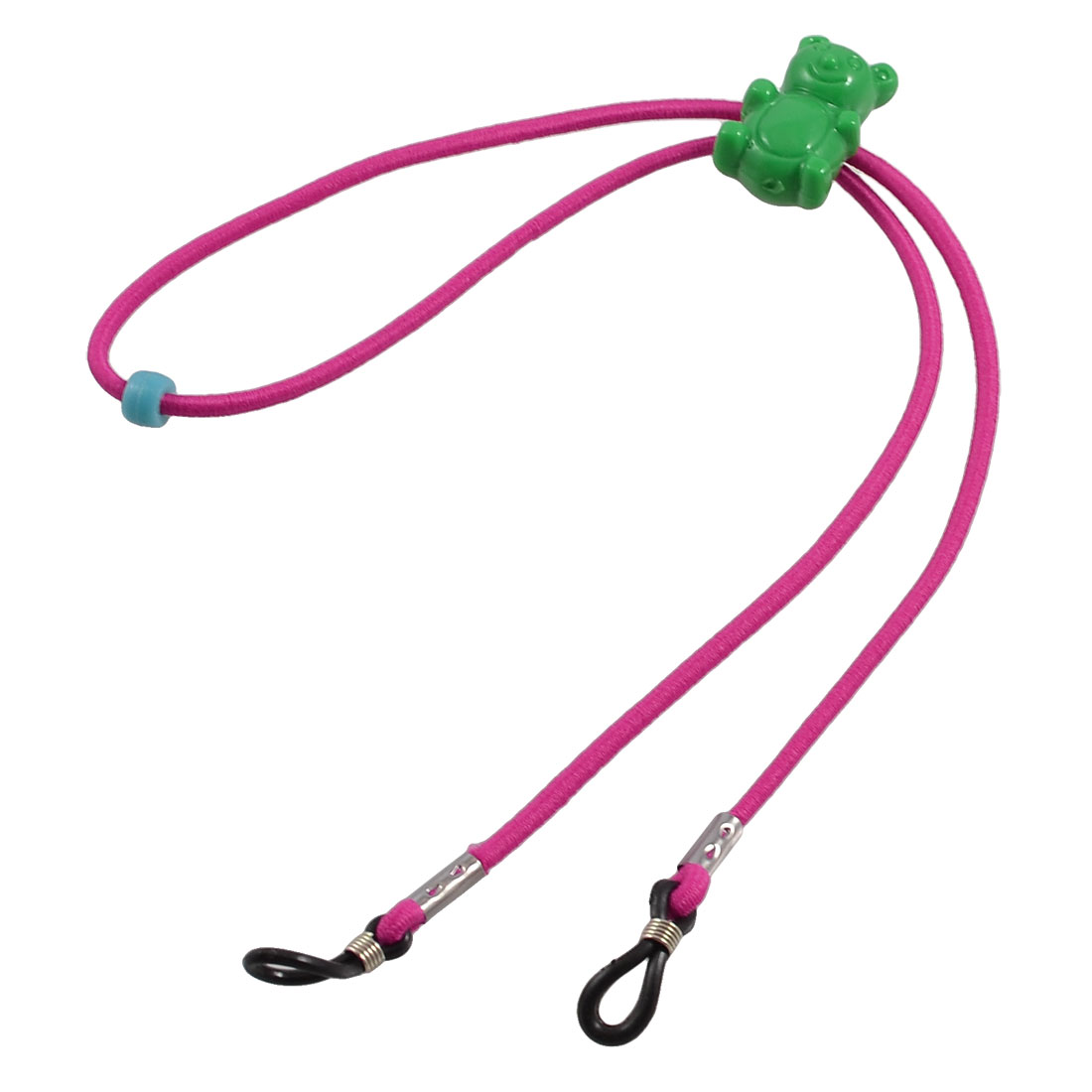Adjustable Fuchsia Stretch Nylon Neck Cord Glasses Retainer Lanyard