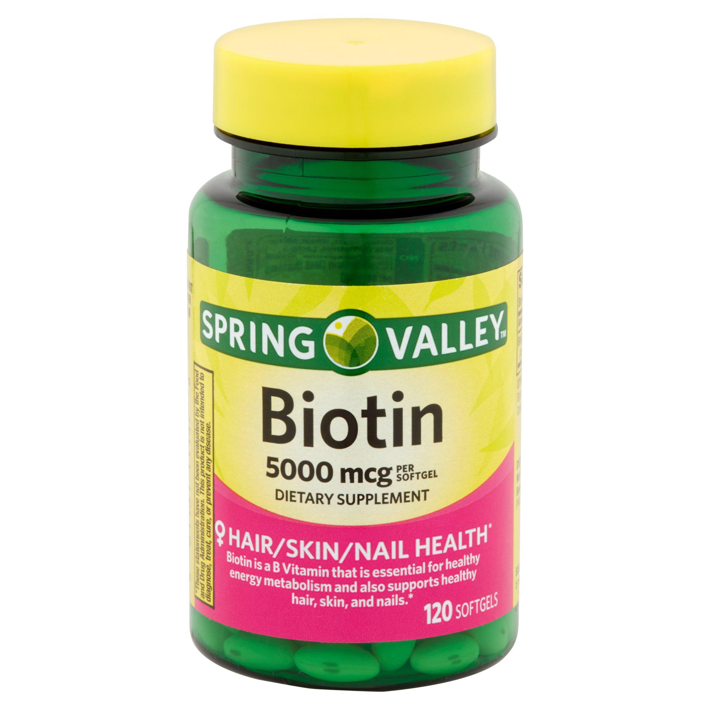 Spring Valley Biotin Softgels 5000 Mcg 120 Ct