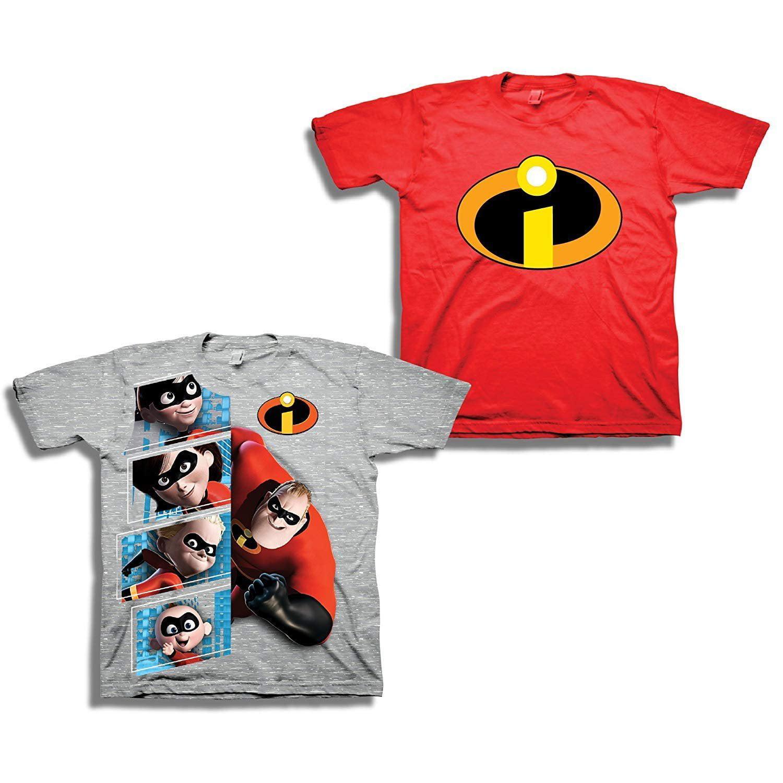 The Incredibles Disney's Pixar Shirt - 2 Pack of Incredibles Tees - Mr Incredible, Jack Jack, and Elastigirl