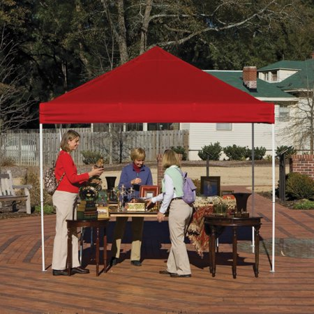 10' x 10' Pro Pop-up Canopy Straight Leg, Red Cover
