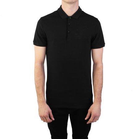 5ab19292 Versace Collection Men's Cotton Pique Embroidered Medusa Polo Shirt Black