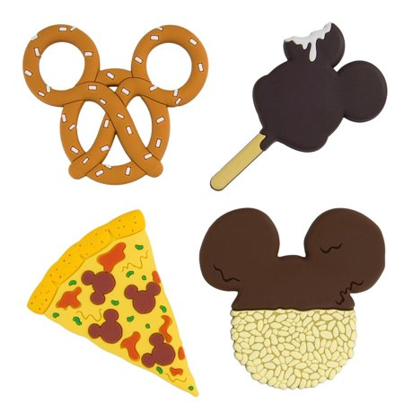 Disney Parks Mickey Icon Food Magnets Set of 4 -