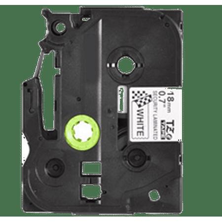 "Zoomtoner Compatible pour Brother PT1280 BROTHER P-Touch Label Tape TZE-SE4 18mm (0.7"") Noir on White - image 1 de 1"
