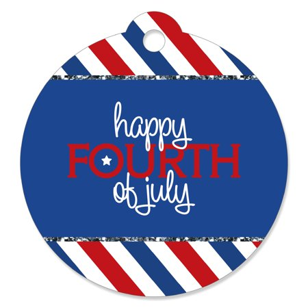 4th of July - Independence Day Party Favor Gift Tags (Set of 20) (4th Of July Party Favors)