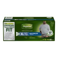 Depend Fit-Flex Incontinence Underwear for Men, Maximum Absorbency, XL, Gray (Packaging may vary)
