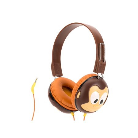 Griffin Volume Limiting Monkey Kazoo Myphones Headphones  Over The Ear Headphones For Kids
